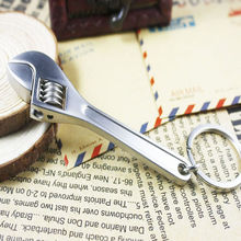 Creative Individuality Car Key-chain Metal Adjustable Tool Wrench Spanner Key-ring Car Mini Diagnostic-tool Handcrafted Gift недорого