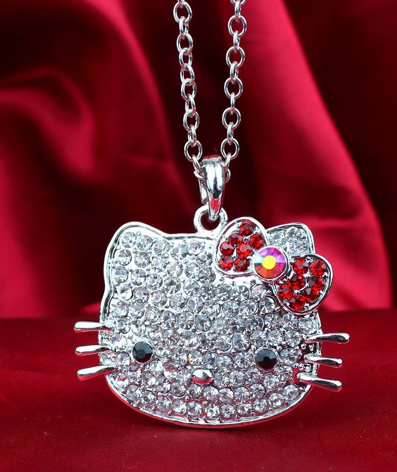 Hello Kitty Pendant ALP Siywina,Free Shipping,2017 Fashion hello kitty Pendant Necklaces,hello kitty  mascot costume with free jewelry gift 1 pcs a lot