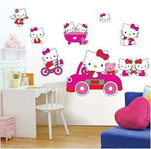 Hello Kitty Wall Murals Wall Murals Ideas - Hello kitty wall stickers