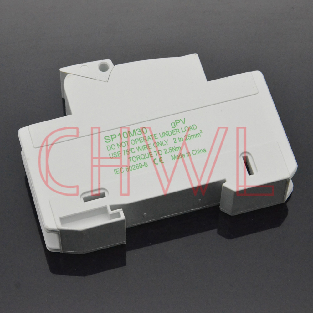 Image 2 - 5pieces/lot solar panel mount fuse holder 35mm din rail pv fuse 10x38mm DC 1000V Photovoltaic fuse base dropout fuse component-in Fuses from Home Improvement