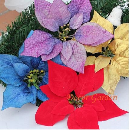 3colors 22cm 50pcs For Christmas Decoration Artificial Silk Flowers