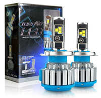 2 sztuk T1 serii 70W 7200LM 6000K H4 H1 H3 Turbo LED reflektor samochodowy H7 H11 880/881 9005 HB3 9006 HB4 9007 HB5 żarówka