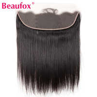Beaufox 13*4 Ear to Ear Lace Frontal Closure Brazilian Straight Human Hair Lace Frontal Free Part Remy Hair Extension