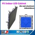 TEEHO Аренда Крытый Светодиодный дисплей стены P5 литой алюминиевый шкаф 640x640 мм 3528SMD 2 года warrany 1/8 режим сканирования