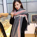 2015 Bandana Korean Winter Classic Pop cashmere Scarves Cozy Blanket Oversized Wrap Shawl burderry Women scarf Q41