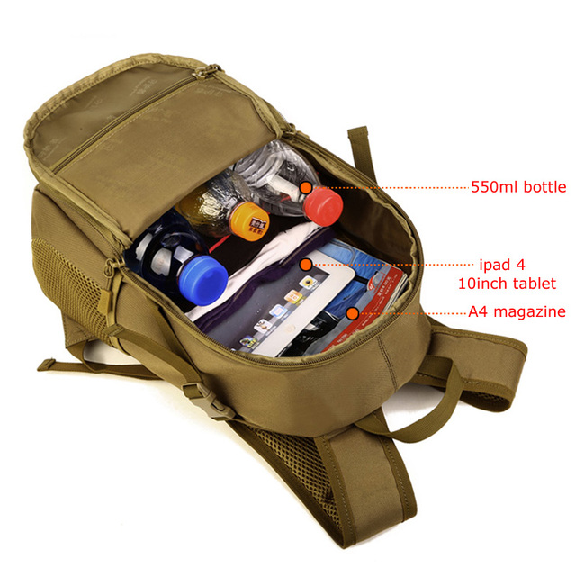 12L Tactical MOLLE Army Outdoor Sports Pack Waterproof Backpack School Bags Kids Mini Military Rucksack Children Travel bag 4