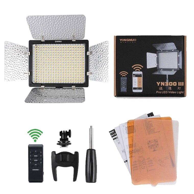 цена на Yongnuo YN300-III Pro LED Video Light for DV Camcorder Canon Nikon Pentax Olympus Samsung Panasonic JVC (5500K)