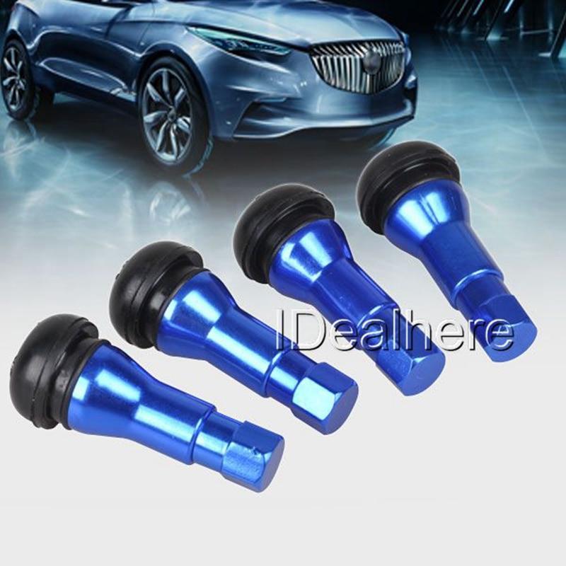 mayitr-4x-bolt-in-aluminum-alloy-car-wheel-tire-tubeless-valves-stem-with-dust-caps-titanium-red-blue-golden-color