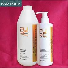 PURC Brazilian Keratin Clean Shampoo Set 0% 1000 ml Plus 300 Pull Front Hair Wash Straighten