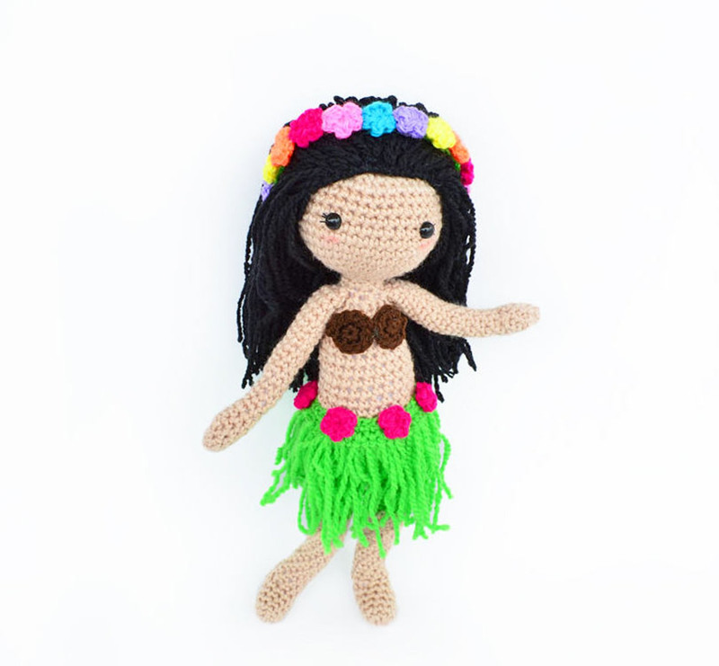 Hula girl pattern | Etsy | 741x800
