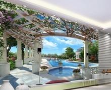 Home Decoration 3D wallpaper swimming balcony