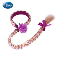 Disney 2018 Baby Girl Congelado Princesa Headband Do Cabelo Acessório Cosplay Peruca Boneca Elsa Anna Neve Princesa Trança Headband Da Flor