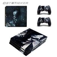 30% de descuento OSTSTICKER Cartoon Joker Murciélago Para PS4 Piel Pro pegatina Para Sony Playstation 4 Pro Controlador de Consola y 2 Unids pieles