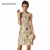 Hot Sale New 2014 Women Dresses Europe High Quality Flower Embroidery Dress Evening For Women Dropship