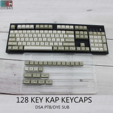 IDOBAO 128 Key Light Gray DSA Keycaps For Mechanical Keyboard PBT Russian Gk61 Art Electronics Motospeed Ck104 Clavier Gamer