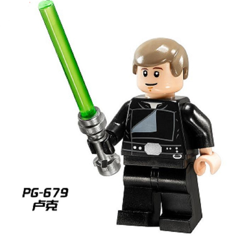 Single Sale Star Wars Luke Skywalker With Lightsaber Obi-Wan Kenobi Bricks Assemble Building Blocks Children Gift Toys PG679