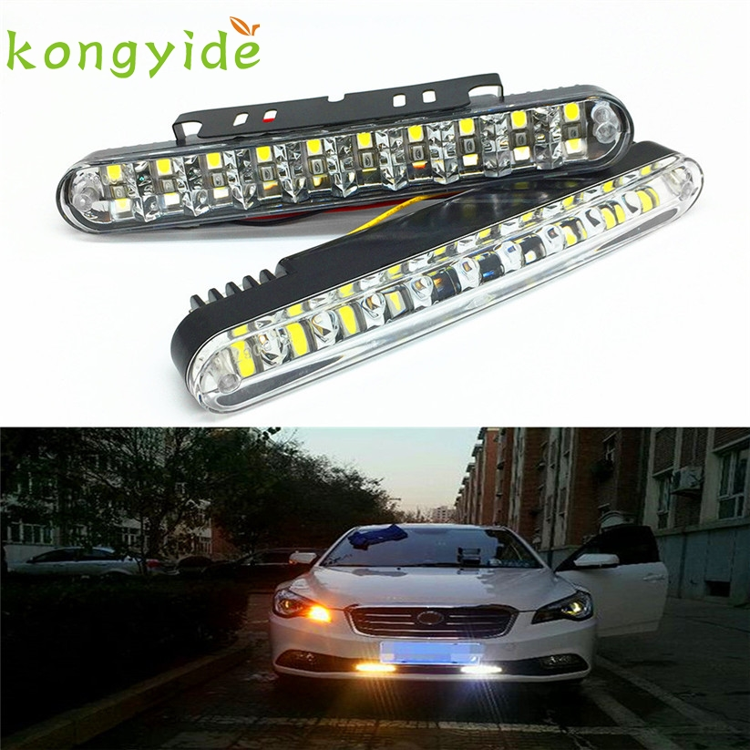 2PC 30LED Multi-Function Vehicle Daytime Traffic Fog Lights with Color Steering fe15