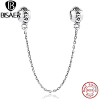New Arrival Accessories 925 Sterling Silver Love Heart Safety Bead Fit Bracelet Necklace Jewelry Making S032