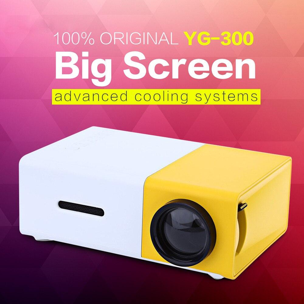 Prix pour YG300 YG310 LED Portable Projecteur 400-600LM 3.5mm Audio 320x240 Pixels YG-300 HDMI USB Mini Projecteur Home Media lecteur