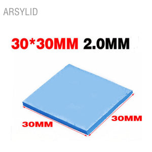 ARSYLID High quality 30*30*2.0mm Thermal conductivity 3.6W GPU CPU Heatsink Cooling Conductive Silicone Pad Thermal Pad