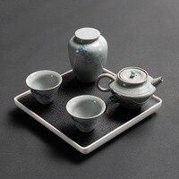 Conjunto de chá de viagem portátil com um pote de dois copos de viagem rápida do carro do copo do passageiro conjunto completo de pacote da caixa de chá.|Jogos de chá| |  -