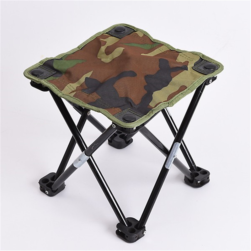 Floding Fishing Chair Camping Hiking Beach Camouflage Portable Stool Outdoor Chair
