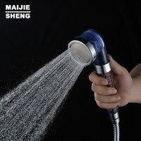 יד רחצה מקלחת ראש מקלחת חיסכון במים שלוש פונקציה גבוהה מסנן מים מקלחת פלסטיק חצי חיסכון במים