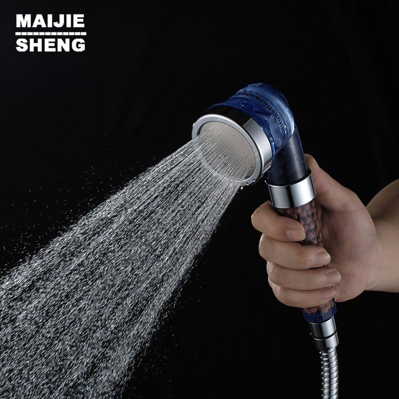 Hand Shower Bathroom water saving Shower Head Three function water filter High Pressurize Water Saving plastic shower