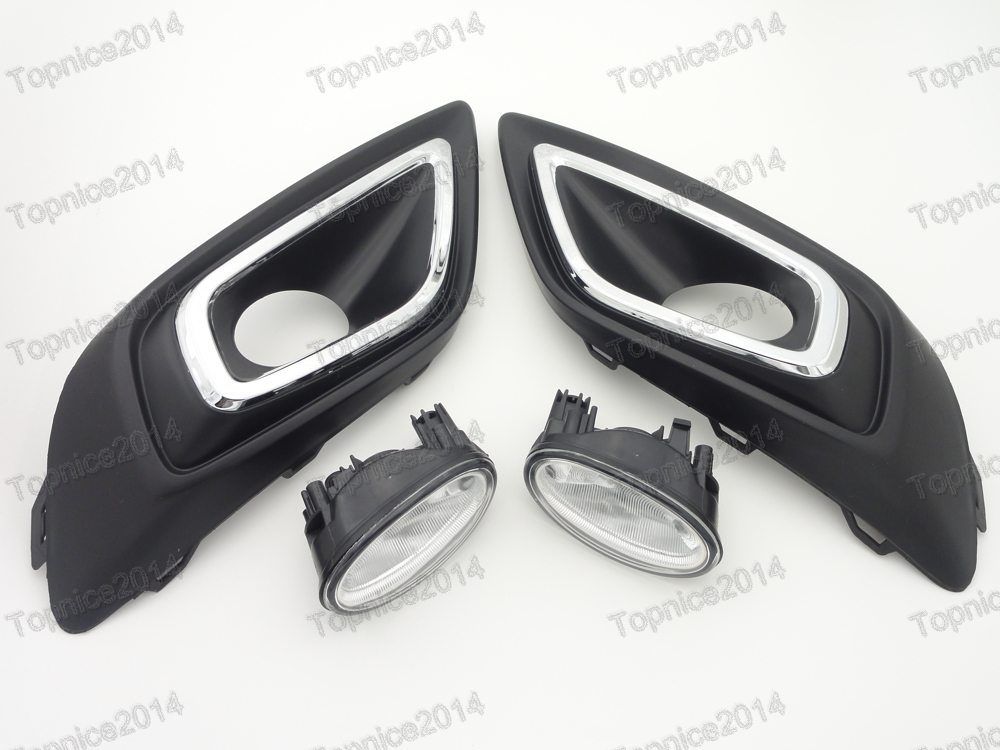 Replacement Front Fog Lights Lamps & Fog Light Covers Kits For Honda Jade 2014-2015 scoyco mc24d shock resistant padded half finger motorcycle cycling gloves black red pair xl