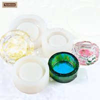 DIY Silicone Crystal Cigarette Ashtray Round Embed Making Mold Handcraft Resin Casting Epoxy Transparent Mould Tools