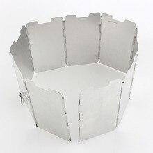 9 пластин ветрозащитные экраны складной Открытый Кемпинг кухонная плита газовая плита лобовое стекло ветер экран