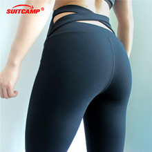 Sexy Training Women's Sports Yoga Pants Leggings Elastic Gym Fitness Workout Running Tights Compression Trousers Leggings