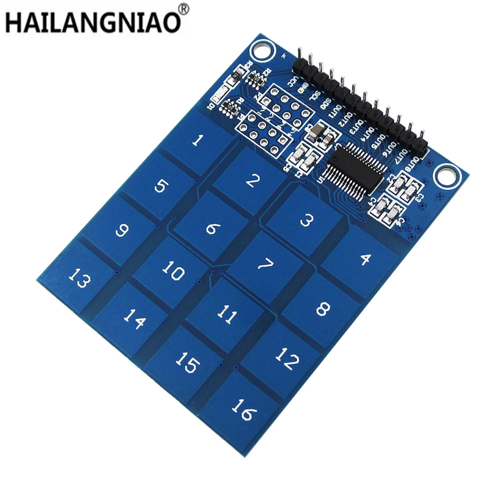 16 Way XD-62B TTP229 Capacitive Touch Switch Digital Sensor Module Board Plate digital capacitive touch sensor switch module