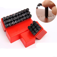 9pcs 27pcsAlphabet And Number Stamp Punch Set Steel Stamp With Storage Box Case Leather Craft Scrapbook