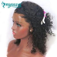 NYUWA Full Lace натуральные волосы парики короткие фигурные полные парики шнурка предварительно сорвал натуральных волос с ребенком волосы брази