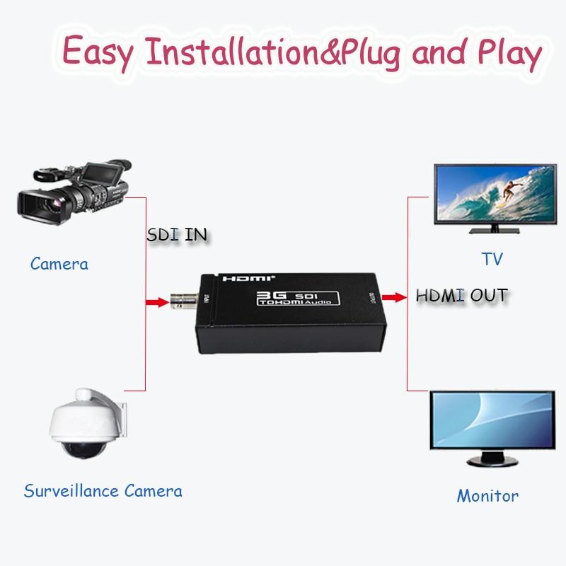 SDI HD 3G BNC to 3G 1080P HDMI Audio Video Converter