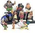 10 Pçs/set Anime Moana Waialiki Maui Heihei Moana Aventura Princesa Figuras de Ação Brinquedos Bonecas Brinquedos infantis
