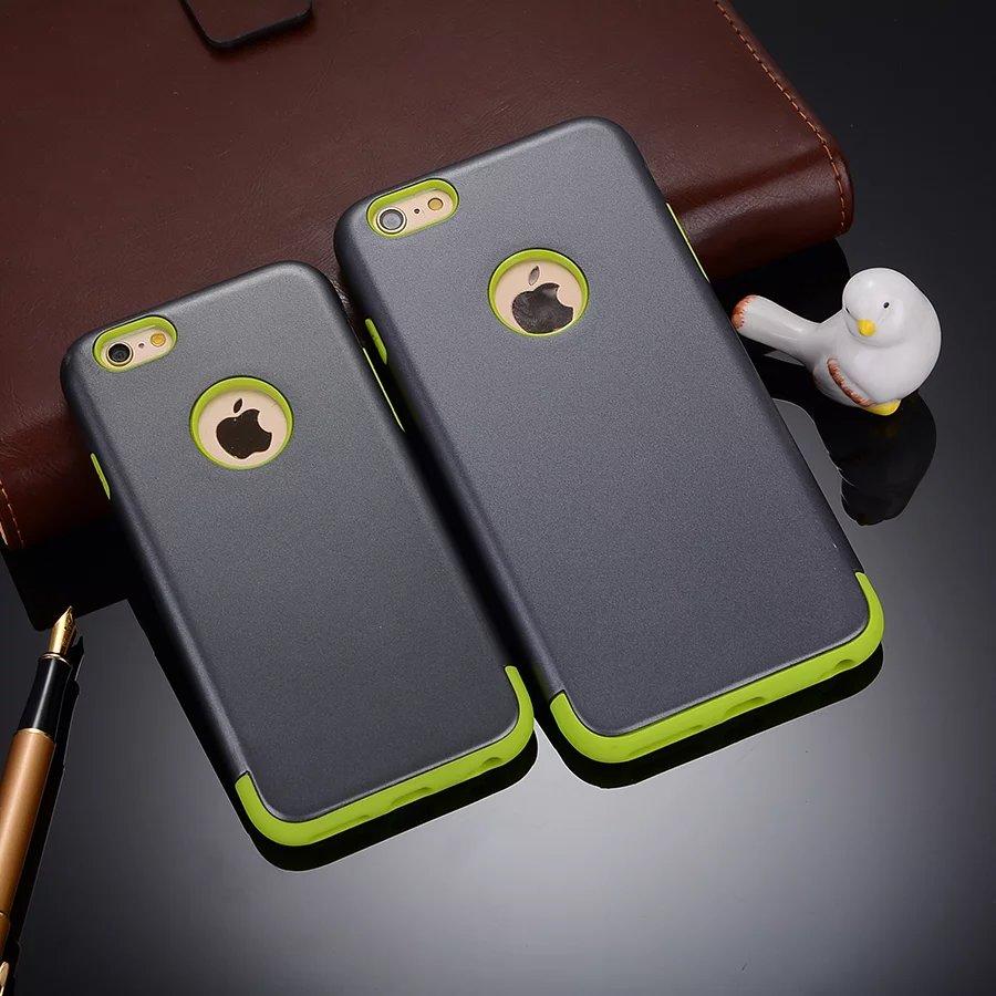 Tpu y pc dos en un híbrido armor case cubierta a prueba de golpes para iphone 5/