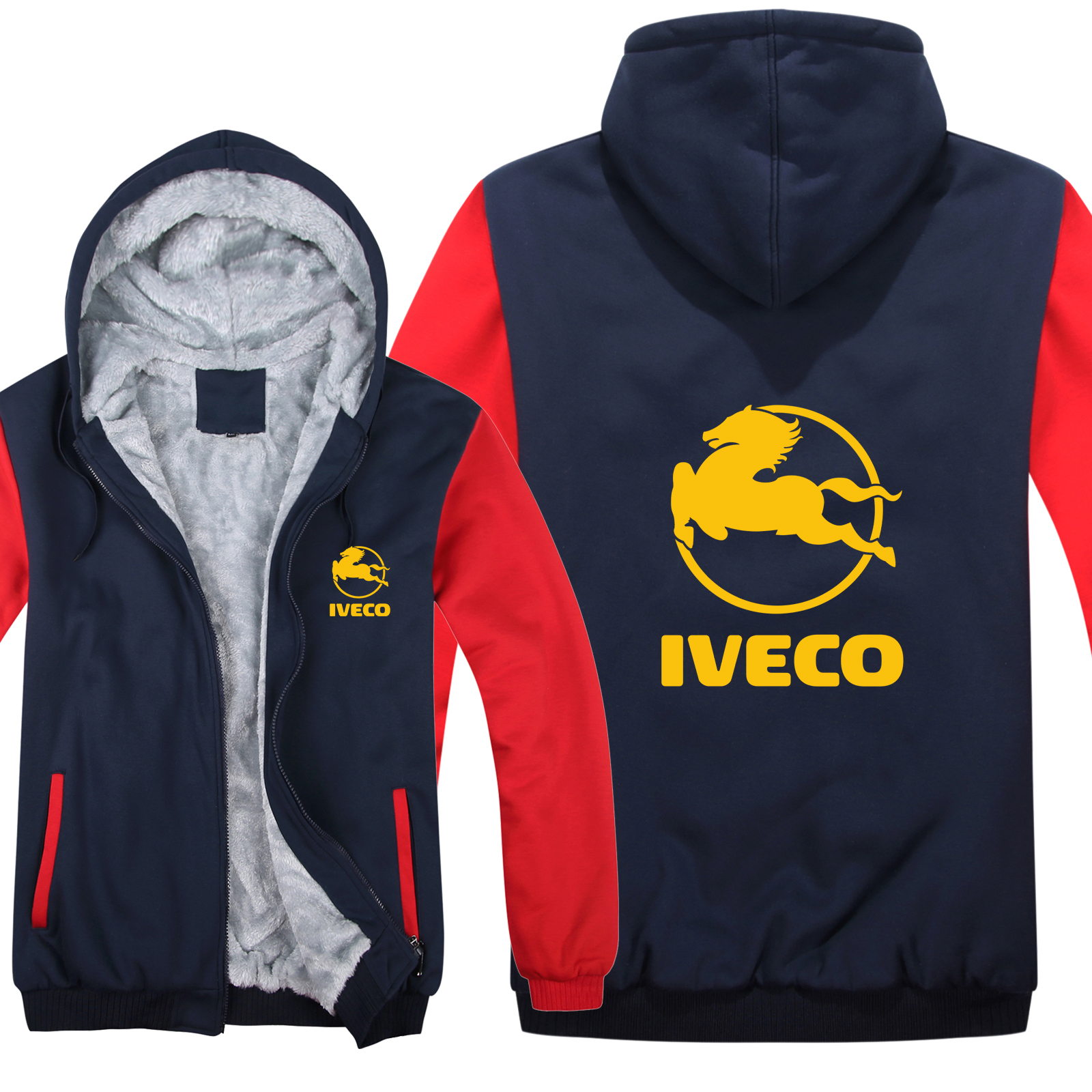 Image 4 - Winter Iveco Truck Hoodies Men Fashion Coat Pullover Wool Liner Jacket Iveco Sweatshirts Hoody HS 004-in Hoodies & Sweatshirts from Men's Clothing