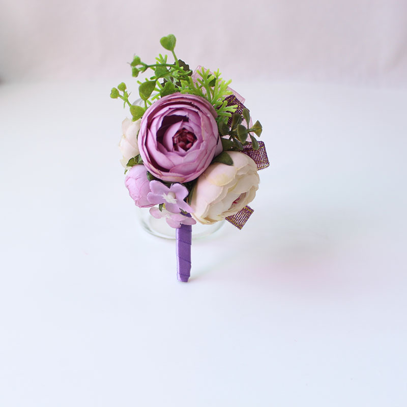 Wedding Corsages and Boutonnieres men groom artificial flowers  (14)
