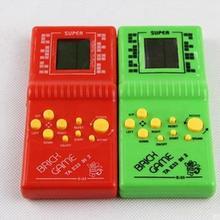 Классический тетрис Ручной ЖК-электронная игра игрушки забавная кирпичная игра загадка портативная игровая консоль