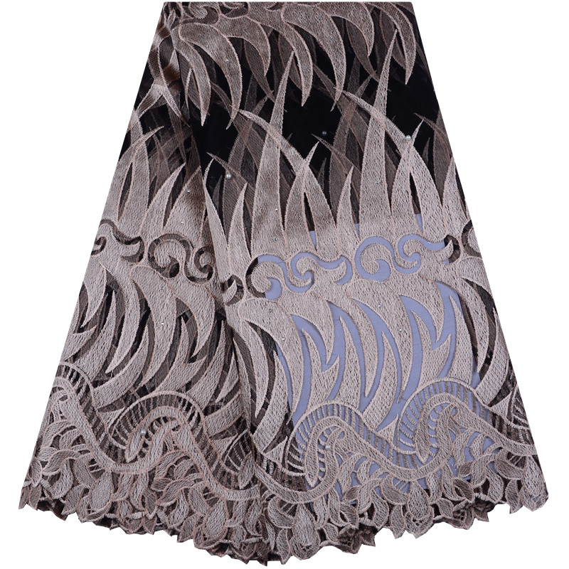 Fashion African Lace Fabric 2019 High Quality French Mesh Lace Fabric with stones Nigerian Swiss Lace