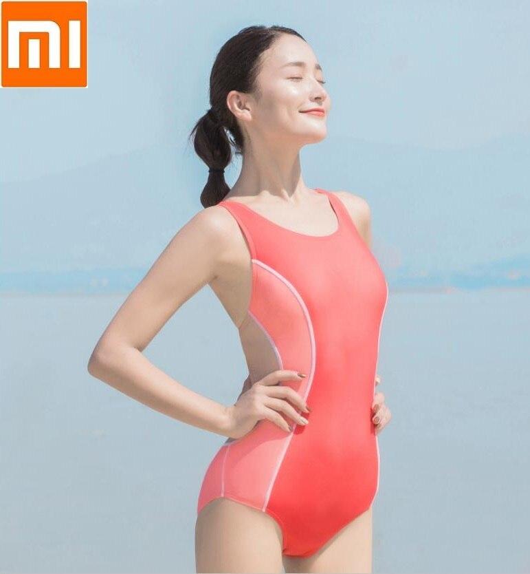 Xiaomi One Piece Swimsuit Women Swimwear Bodysuit Bandage Cut Out Summer Beach Bathing Suit Swim Monokini