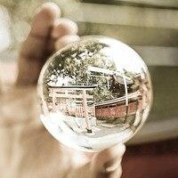 حار البحث 100 ملليمتر واضح جولة زجاج الاصطناعي كريستال شفاء سفير الكرة الديكور قطرة الشحن