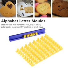 New  Fondant Plastic Alphabet Letter Number Mold Cake Decorating Tools Set Baking Cookie Cutter Kitchen Accessories 26 english alphabet cookie mold set baking tools