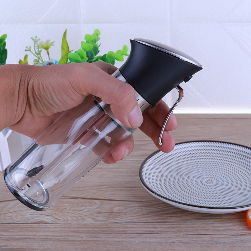 200ml2 in 1 Olive Oil Dispenser Bottle Pot Oil Container Storage Bottle Vinegar Sprayer Spice Oiler Sauce Kitchen Cooking Tools