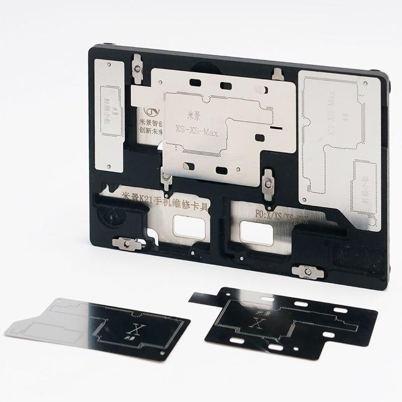 Купить с кэшбэком MJ K21 PCB Holder Fixture For iPhone X/XS/XS MAX Micro Soldering Repair Station Fixing Tools