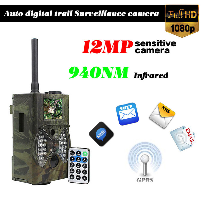 1080P HD Hunting Trail Camera Video Scouting Infrared Game HD 12MP GSM GPRS MMS