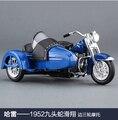 Venta caliente Harley-davidson Maisto 1/18 Motocicleta de tres ruedas para Sidecar Clásico 1948 FLAlloy diecast Model Collection/juguete/Regalo