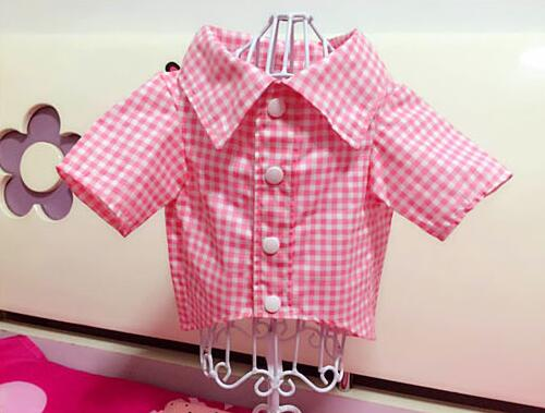 Spring autumn dogs cats fashion grid shirt costume doggy cool wedding shirts clothes pup ...
